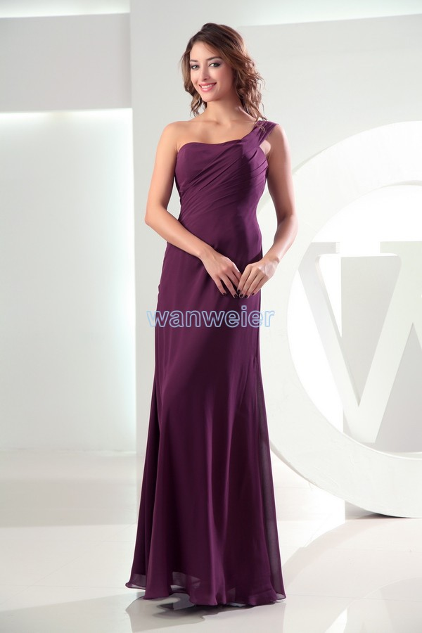 Free Shipping Famous 2016 Vestidos Formales Red One-shoulder Sexy Long Burgundy Floor Length Dress Custom Bridesmaid Dresses