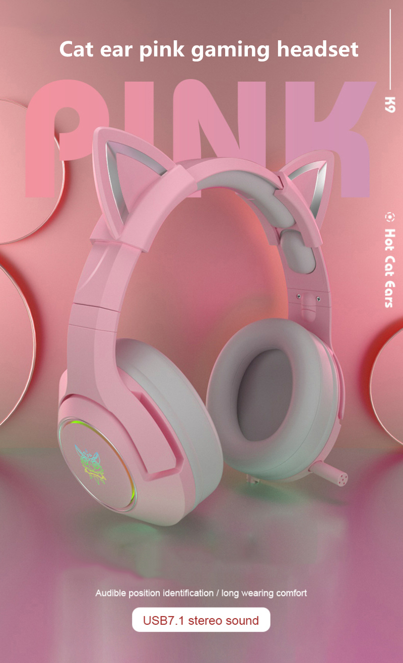 Novo produto k9 rosa gato orelha bonito