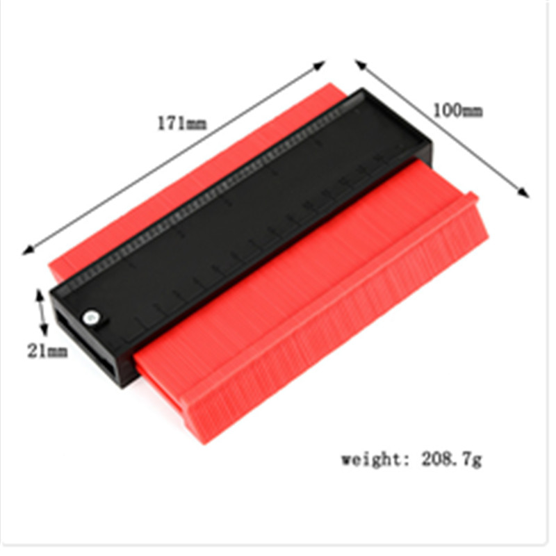 TOP Shape Contour Duplicator Profile Gauge Tiling Laminate Tiles Edge Shaping Wood Marking Tool Easy Cutting Profile Measuring