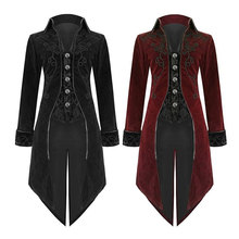 DM COS 2019 European Court Gothic Men Cosplay Evening Dress Coat Cos Lapel Tuxedo Cos Festival Party Performance Stage Pack Men парик cos cosplay 80cm