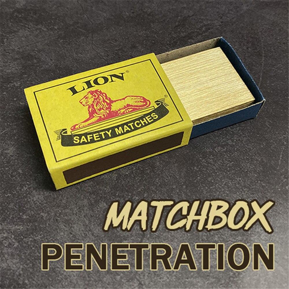 Matchbox Penetration Magic Tricks Stage Close up Magia Needle Through Magic Box Solid Magie Illusions Gimmick Props Magicians