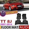 Кожаные автомобильные коврики на заказ для Audi TT Roadster 8J MK2 2007 ~ 2014  2 места  автомобильные коврики для ног  аксессуары для ковров  2008  2009  2010  2011