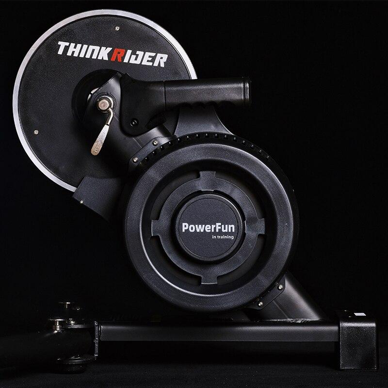 جهاز تدريب الدراجة الذكية Thinkrider X7 3 حامل داخلي للدراجة الجبلية إطار من الألياف Carbaon مقياس طاقة مدمج لتدريب الدراجة