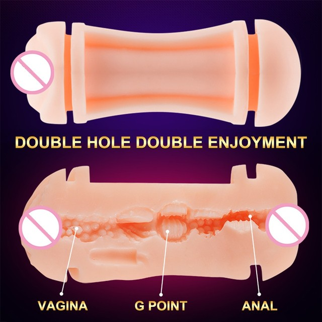 7 Modes Realistic Tight Vagina Real Pussy Automatic Aircraft Cup Double-Headed Massager Glans Exercise Oral Sex Toys for Men 2