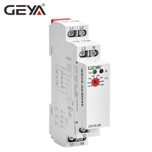 Free Shipping GEYA GRV8-08 Overvoltage Undervoltage Relay Phase Failure Phase Sequence Asymmetry Control Relay the phase protection relay 380v power broken phase fault phase overvoltage and undervoltage detection monitoring rd6 w
