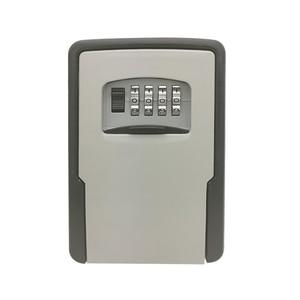 Image 1 - מפתח אחסון מנעול תיבת קיר רכוב עמיד מפתח מנעול תיבה עם 4 ספרות שילוב עבור מנעול תיבת מקורה חיצוני