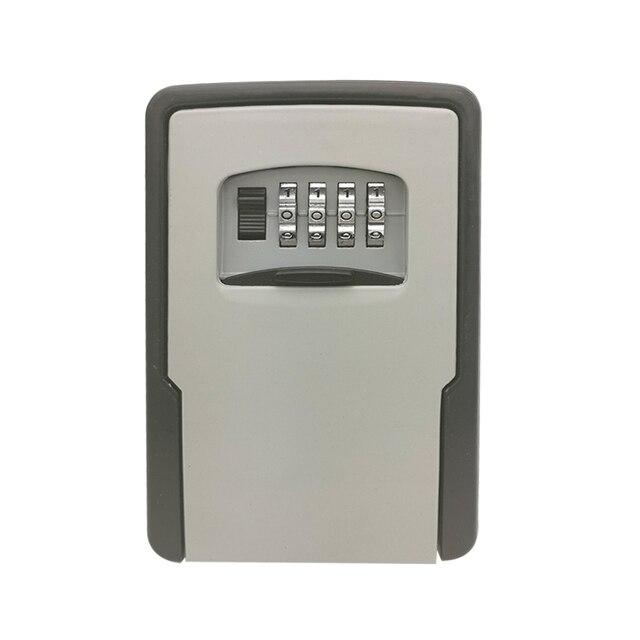 מפתח אחסון מנעול תיבת קיר רכוב עמיד מפתח מנעול תיבה עם 4 ספרות שילוב עבור מנעול תיבת מקורה חיצוני