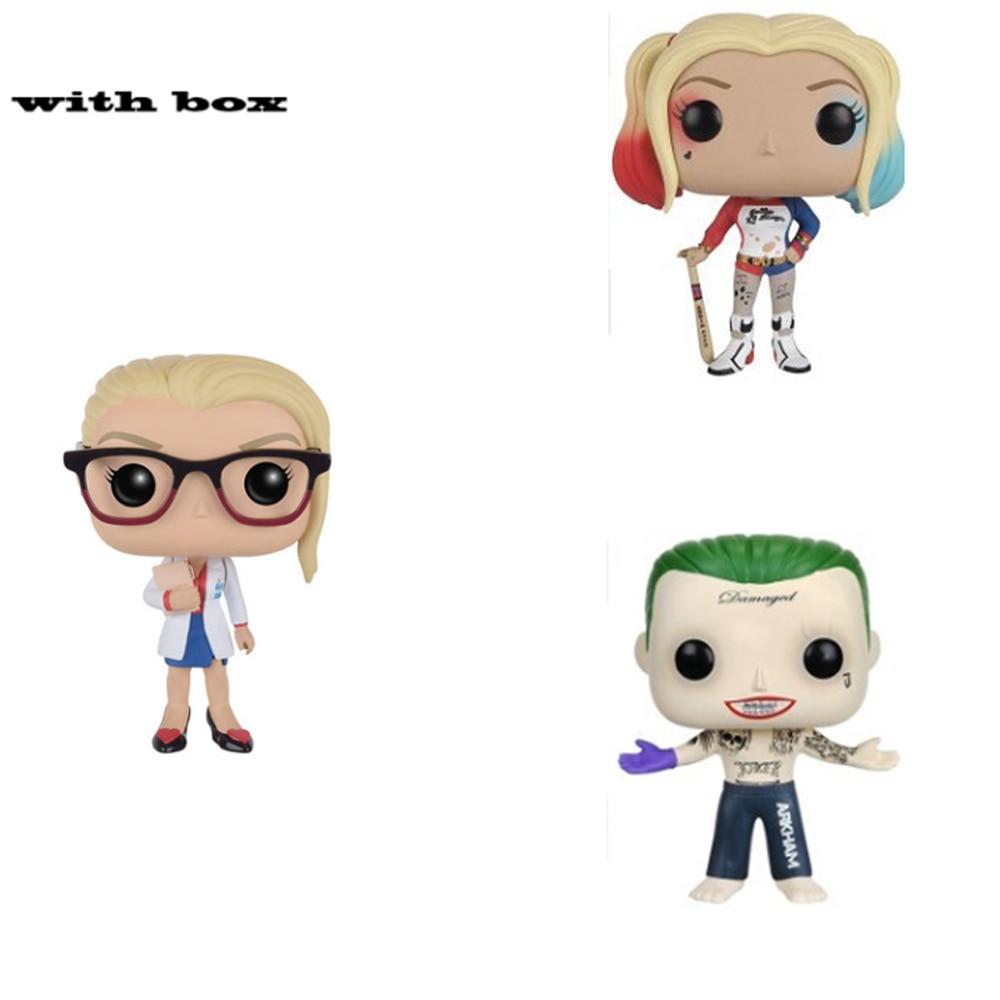 Nova dc comics esquadrão suicídio & harley quinn joker dr. harleen com caixa figura pop brinquedos coleção modelo de brinquedo para crianças