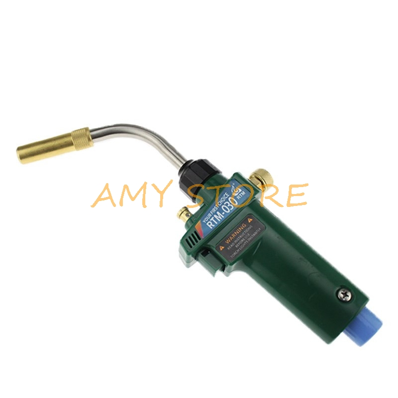 Braze Welding Torch RTM-030 MAPP Propane Gas Torch Self Ignition Trigger Style CGA600 for 19mm Copper Pipe Tube Welding Repair