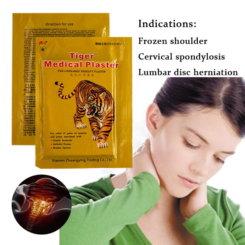 40PCS Tiger Balm Herbal Patches Medical Plasters Rheumatism Muscular Spondylosis Back Joint Pain Patch Health Care