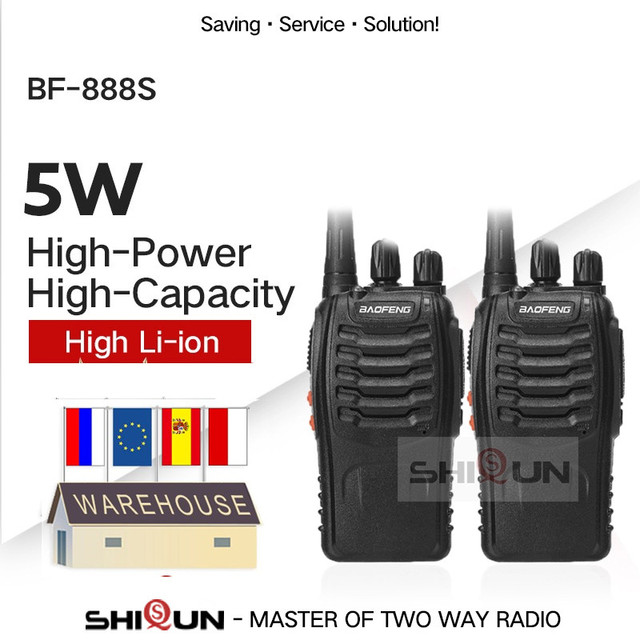 1PC or 2PCS Baofeng BF-888S Walkie Talkie 888s UHF 5W 400-470MHz BF888s BF 888S H777 Cheap Two Way Radio with USB Charger H-777 1