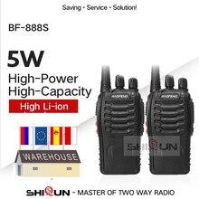 1 pièce ou 2 pièces Baofeng BF 888S talkie walkie 888s UHF 5W 400 470MHz BF888s BF 888S H777 pas cher Radio bidirectionnelle avec chargeur USB H 777