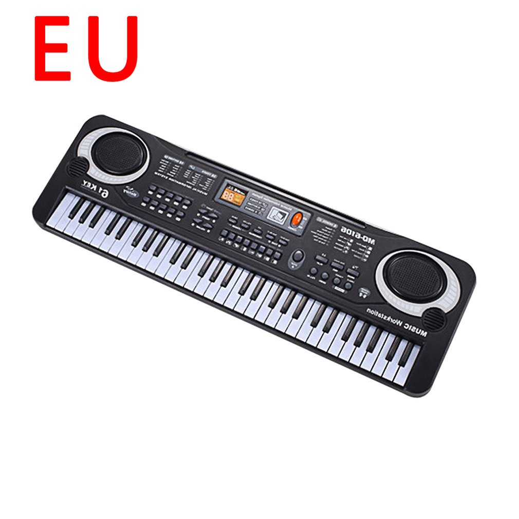 Piano Keyboard Portable Electronic Children'S Keyboard Piano Beginner Digital Music Piano Toy 61 Keys Piano With Microphone