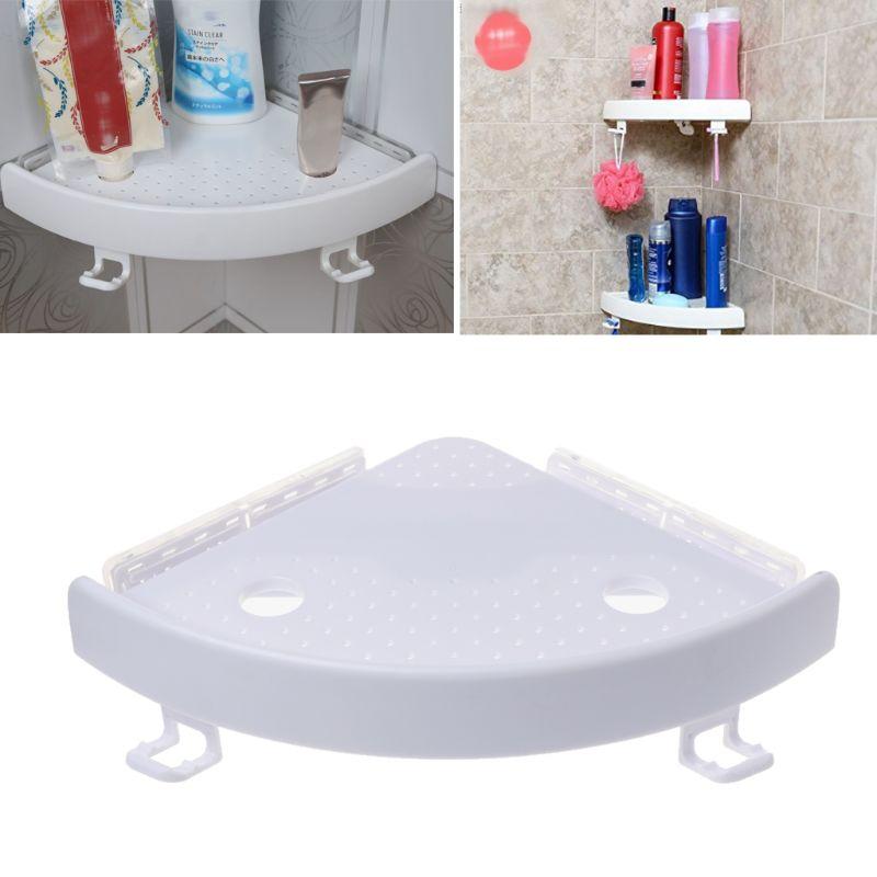 Прямая поставка, угловая полка для ванной комнаты, тройная настенная угловая полка для хранения, не маркая полка - 4