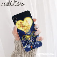 Anime Kingdom Hearts Stained Glass Coque Shell Phone Case For iPhone 8 7 6 6S Plus X XS MAX 5 5S SE XR 11 11pro promax Coque mona lisa art david lines coque shell phone case for iphone 8 7 6 6s plus x xs max 5 5s se xr 11 11pro promax coque shell