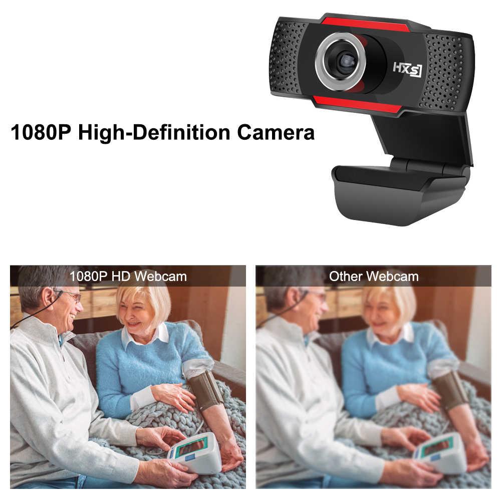 HXSJ S80 USB веб-камера 1080P HD 2MP Компьютерная камера Веб-камера Встроенный звукопоглощающий микрофон 1920*1080 динамическое разрешение