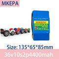 MKEPA 100% Новый оригинальный 36 В 4400 Ач литиевый аккумулятор 10s2p 36 В комплект литий-ионный батарей 42 в мАч аккумулятор для скутера