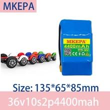 MKEPA 100% nowy oryginalny 36V 4.4ah bateria litowa 10s2p 36V akumulator litowo-jonowy 42V 4400mAh skuter twist baterii