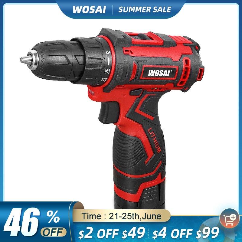 WOSAI 16V Akku-bohrschrauber Elektrische Schraubendreher Mini Wireless Power Fahrer DC Lithium-Ionen Batterie 3/8-Zoll