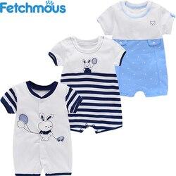 3 pçs bebê menino macacão conjunto 100% algodão recém-nascido menina macacão de manga curta dos desenhos animados infantil bodysuit 2021 primavera verão bebe roupas