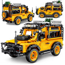 1053 peça tijolos fora-estrada veículo carro cidade criador especialista modelo blocos de construção meninos aniversário presentes de natal crianças brinquedos