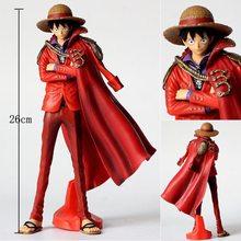 Figurines One Piece de dessin animé Monkey D Luffy, roi d'action de l'artiste Luffy, 20e anniversaire, vêtements rouges, modèle Chopper, jouets en PVC