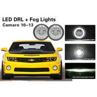 White LED Daytime Running Light Fog Lamps For Chevy Camaro 2010 2013