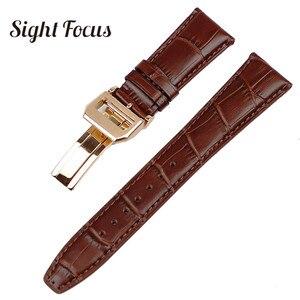 Image 4 - 22mm Mens Blue Watch Band for IWC Calf Leather Watch Strap Alligator Croc Grain CHRONOGRA Bracelet Belt Long Short VersionBand