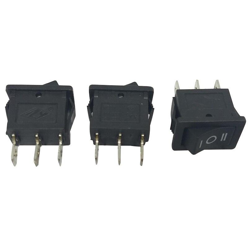 High Quality 5pcs/Lot Mini Rocker Switch Momentary Rocker Switch 3pins (ON)-OFF-(ON) IC