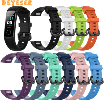 Silicone Strap For Huawei Honor band 4 5 Standard Version Smart Wristband Strap For Honor Band 4 Sport Bracelet Accessories Belt for honor band 5 strap metal wrist bracelet for honor band 4 watch leather silicone strap for huawei honor band 4 5 wristbands