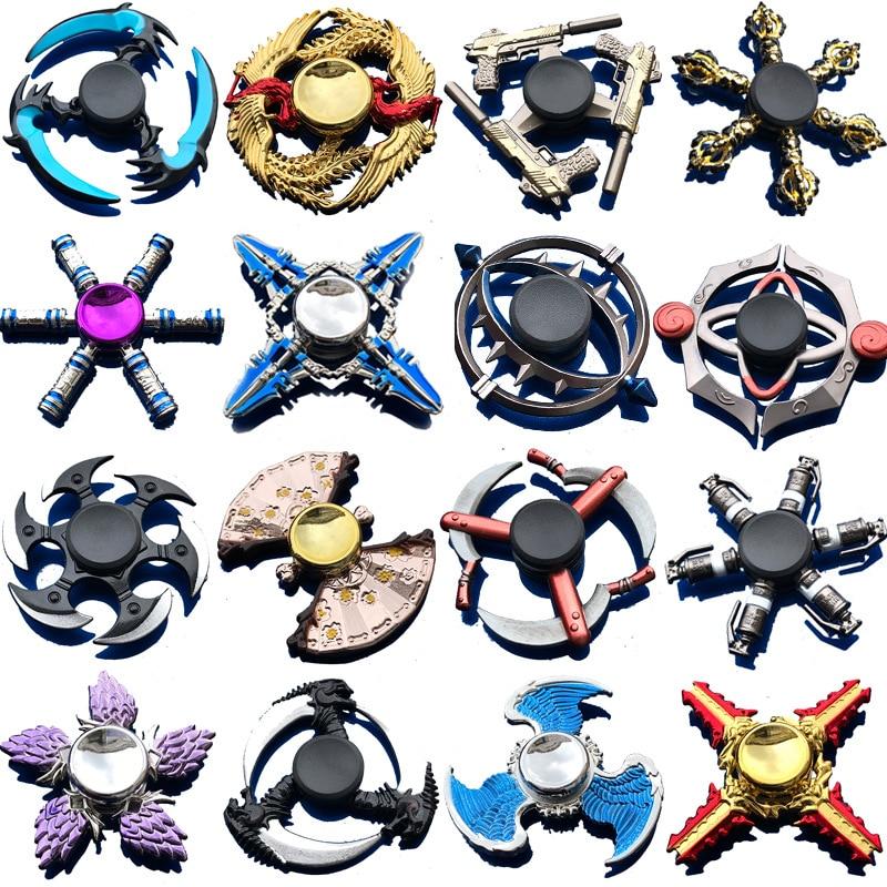 Finger Spinner Tri Cross Fidget Spinner Zinc Alloy Metal Spinner Gyro Creative Ninja Shuriken Darts Relieves Stress Gyro