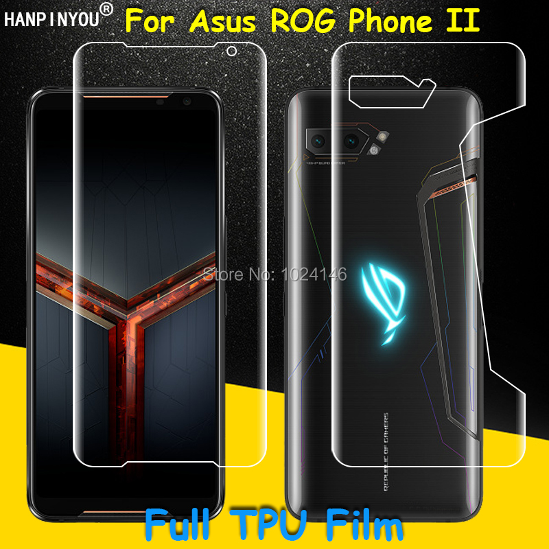 Front / Back Full Coverage Clear Soft TPU Film Screen Protector For Asus ROG Phone 2 II ZS660KL 6.59
