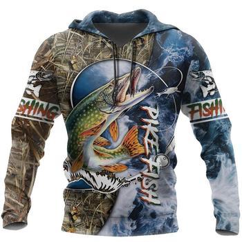 Pike fishing hoody unisex