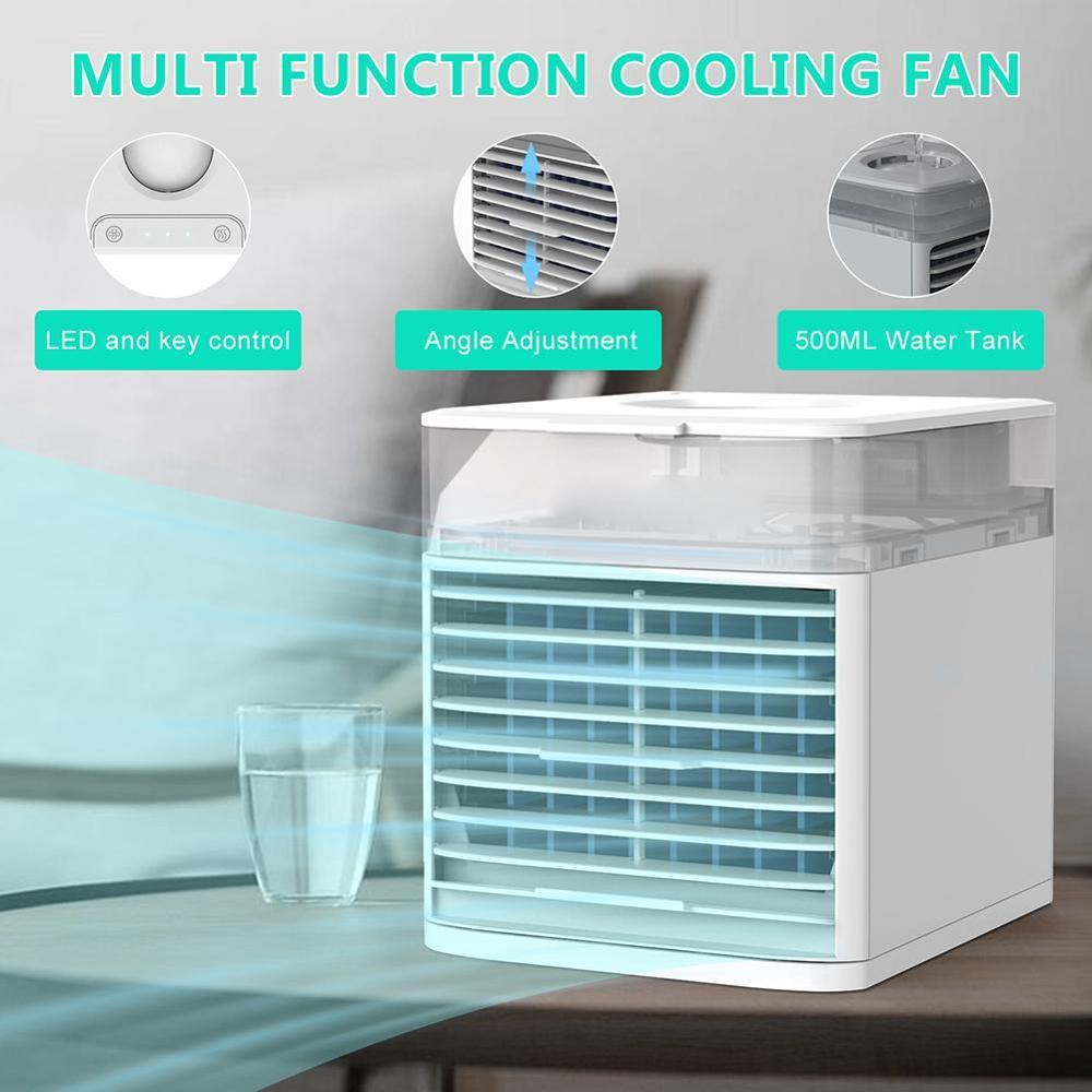 Summer Mini Fan Personal Water-cooled Humidifier Air-cooled Air Conditioning Air Cooler Portable Air Conditioner Humidifier Fan