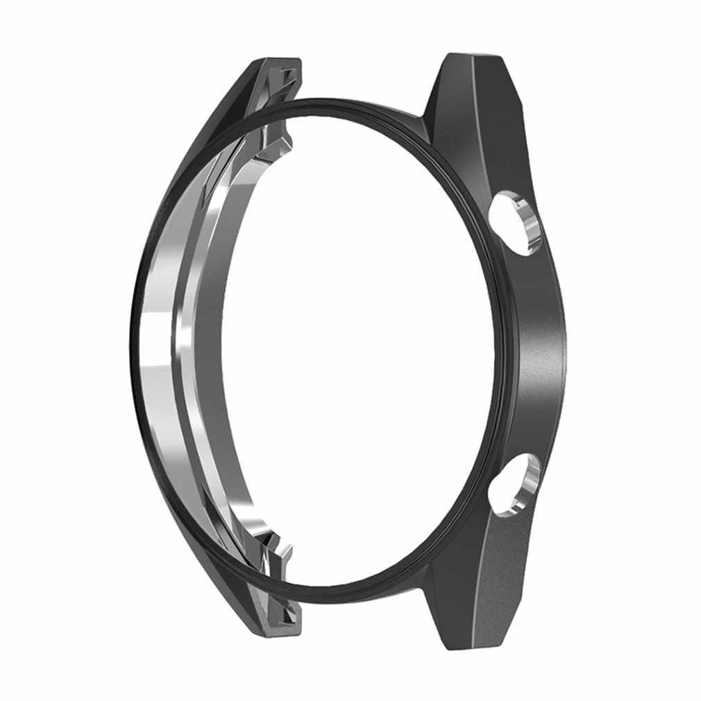 Chapeamento tpu fino relógio inteligente capa protetora para huawei assista gt meio protetor quadro smartwatch acessórios