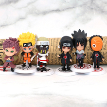 6pcs Japan Anime Naruto Action Toy Figure pvc Model Set figurines