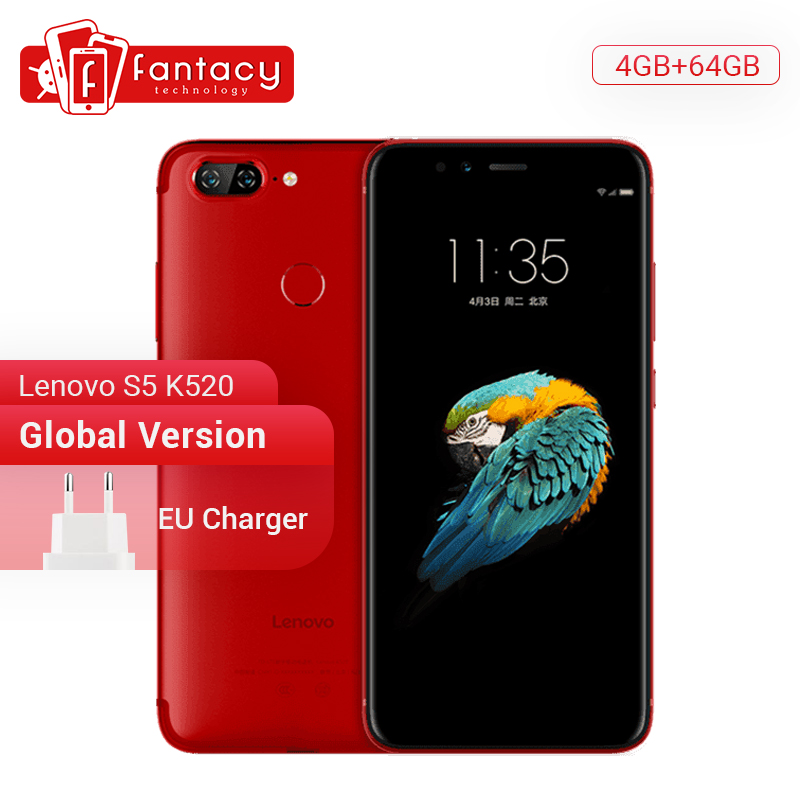 Global Version Lenovo S5 K520 <font><b>4GB</b></font> <font><b>RAM</b></font> <font><b>64GB</b></font> ROM Snapdragon 625 Octa core <font><b>Smartphone</b></font> Dual Rear 13MP Cameras Face ID 4K Cellphone image