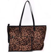 2 Pcs/Set Composite Bags female 2019 INS fashionable leopard zipper shoulder bags large-capacity woman totes shopping  handbags