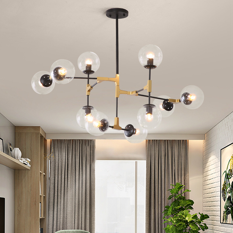 Northern Europe Lamps And Lanterns Household Atmosphere A Living Room Lamp Modern Concise Originality Personality Molecule Magic