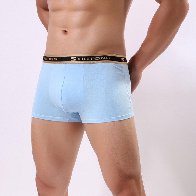 2020 Men Underwear Boxers Cotton Soft Low Waist Underpants Breathable Cueca Boxer Para Hombre Sexy Men Shorts Calzoncillo Hombre