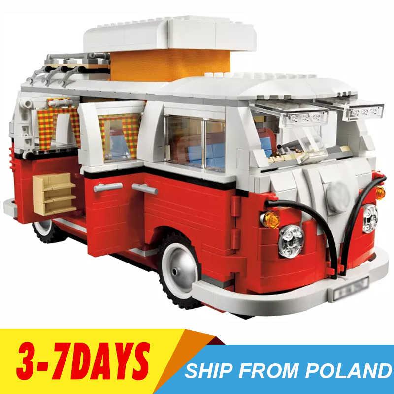 במלאי 21001 T1 חניך ואן קלאסי אוטובוס דגם 1342pcs בורא סדרת אבני בניין צעצועי תואם עם 10220