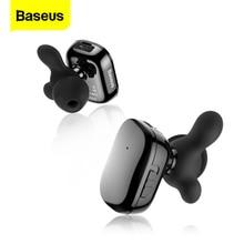 Baseus TWS słuchawka do telefonu Bluetooth douszne podwójne prawdziwe bezprzewodowe wkładki douszne z mikrofonem inteligentny dotykowy zestaw głośnomówiący biznesowy zestaw słuchawkowy