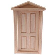 DIY деревянный шпиль дверь Кукольный дом аксессуары ролевые игры игрушки для детей 1:12 Кукольный дом дверь мебель моделирование миниатюры