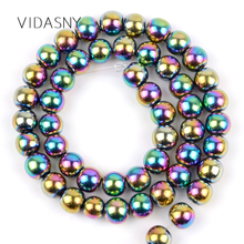Multicolor Hematite Natural Semi Precious Stone Round Beads For Jewelry Making 4mm-10mm Loose Diy Bracelet Necklace 15