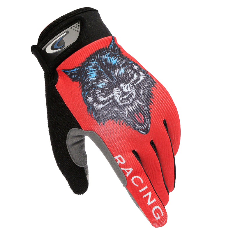 Summer Thin Section Breathable Touch Screen Outdoor Bicycle Riding Gloves Men And Women Wolf Head Climbing Fishing Gloves