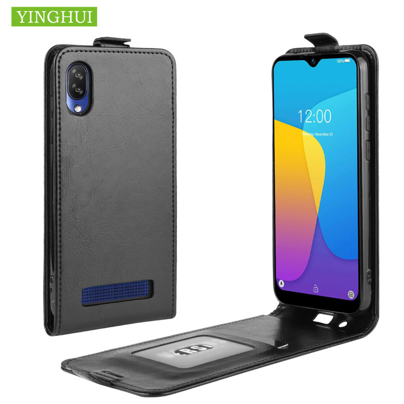 Protective Case Cover For Doogee Y8C Phone Case Flip Leather Case For Doogee Y8 Vertical Cover With Card Holder Case Back Cover image
