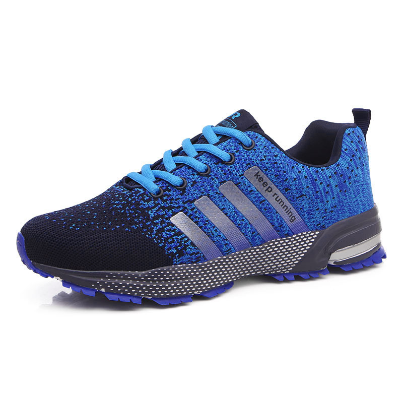 47 Large Size Running Shoes Mens New Mesh Breathable Lace-up Sneakers Men Fashion Outdoor Jogging Shoes Sports Shoe Cushion 8702