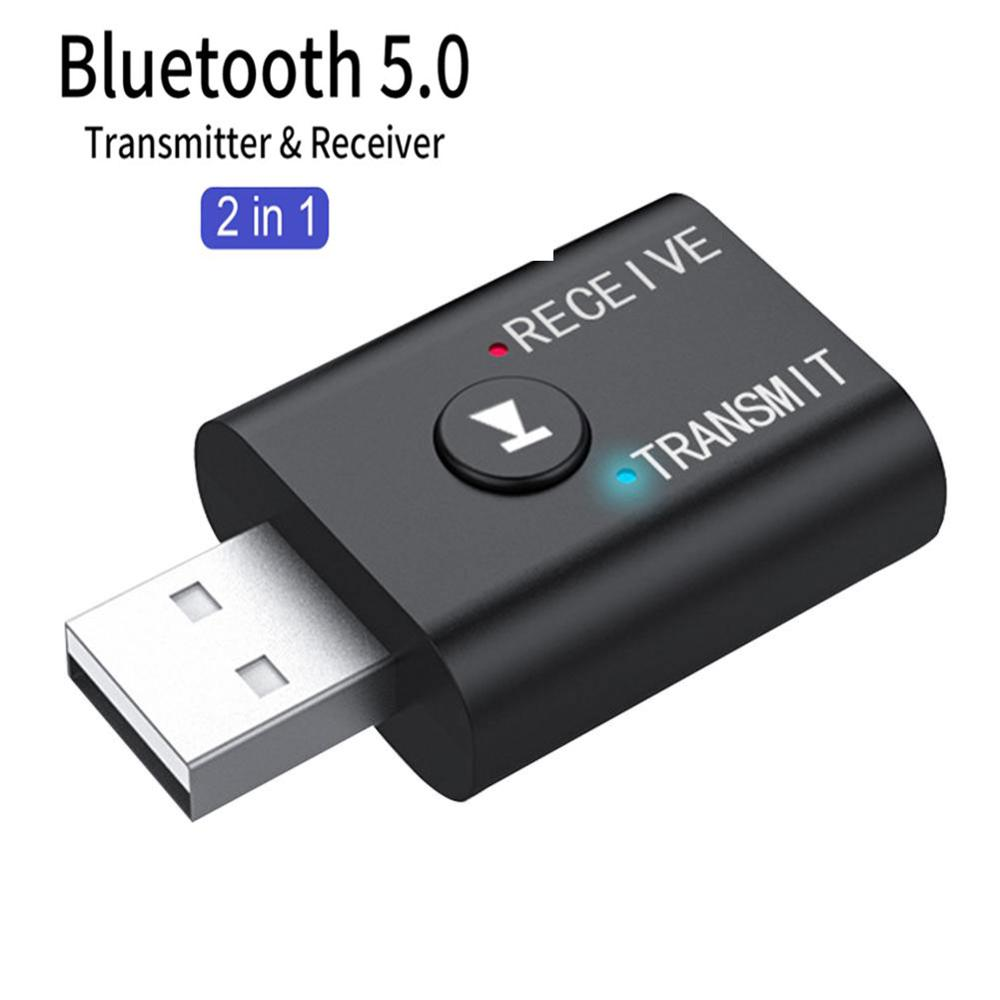 Mini Wireless Bluetooth Receiver Adapter 5.0 Audio Transmitter Stereo Bluetooth Dongle AUX USB 3.5mm For Laptop TV PC Car Kit