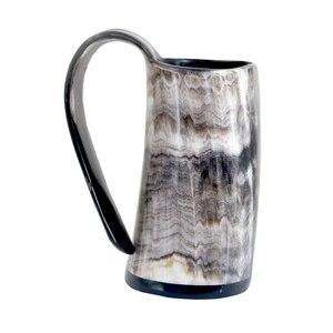 Image 1 - 100% ручная работа Бык Рог кружка виски выстрел стаканы вино рог для напитков кружки викингов питьевые кружки