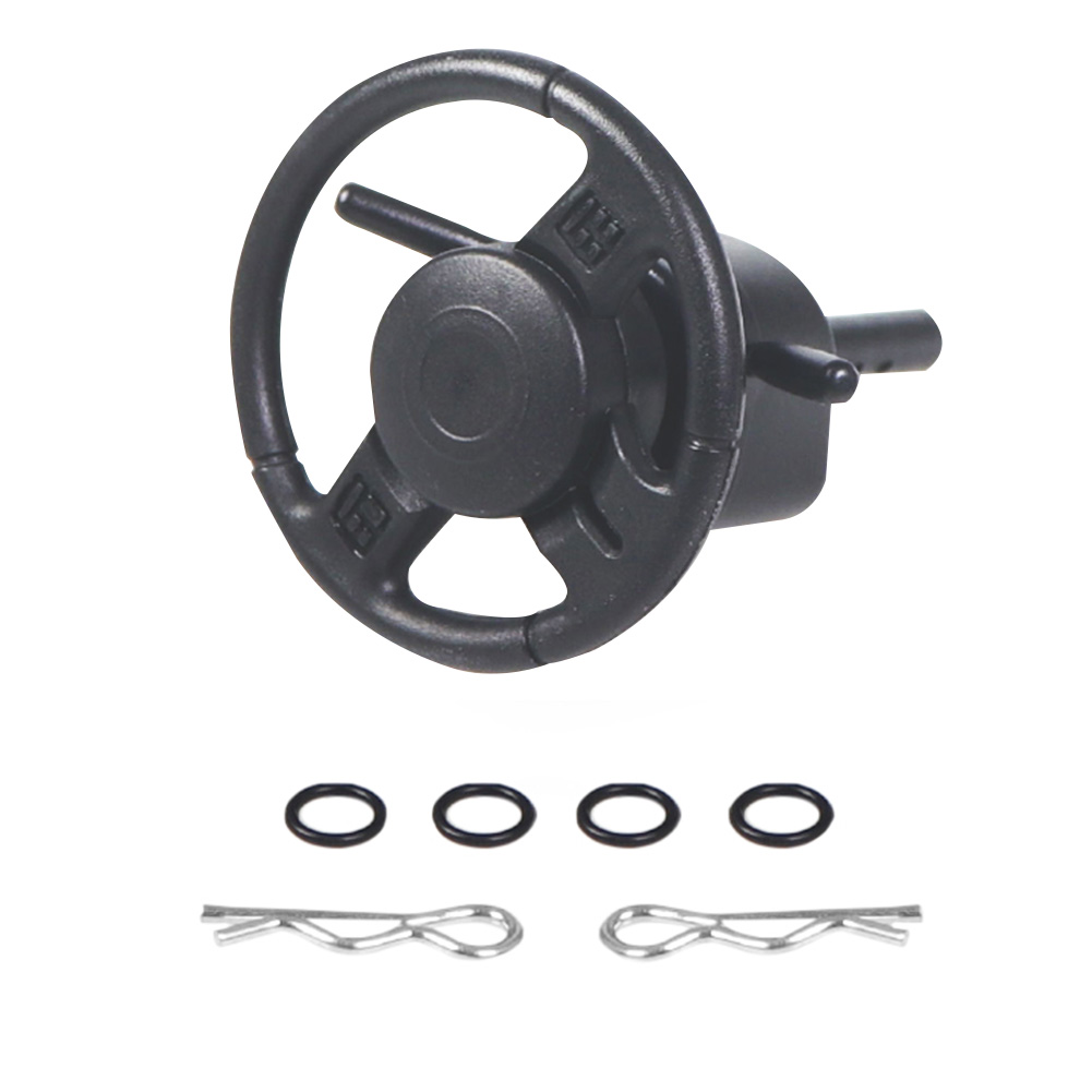 TRX4 SCX10 <font><b>1/10</b></font> Replacement <font><b>RC</b></font> Car Black Interior Universal Durable Accessories Plastic Crawler <font><b>Drifting</b></font> Steering <font><b>Wheel</b></font> Mini image